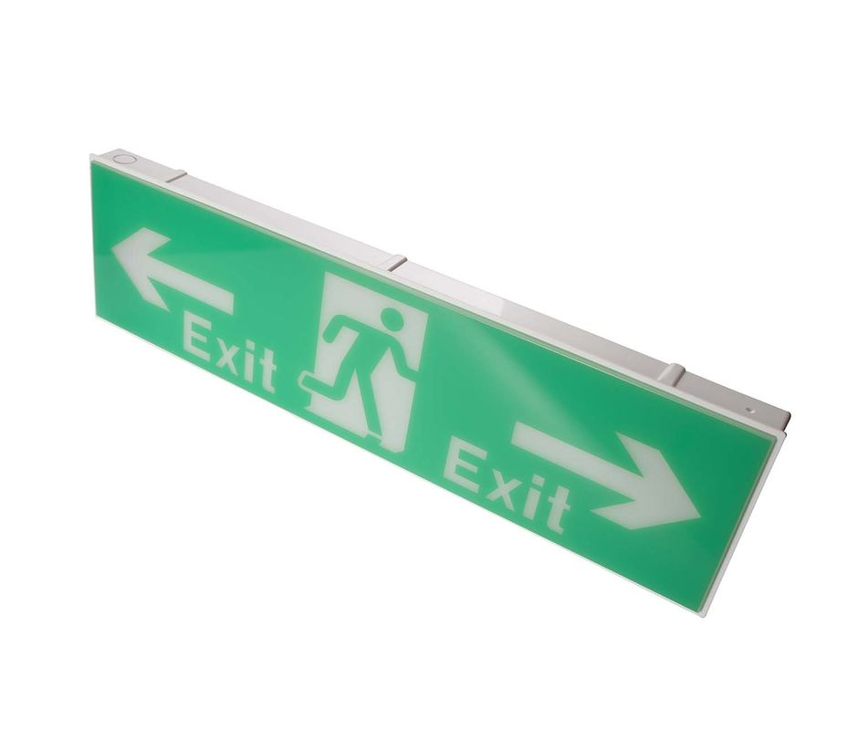 SMD LED Emergency Exit Sign Light 220-240V With Ni - Cad Battery Operated